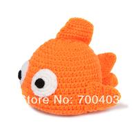 Little Fish Knit Crochet Newborn Baby Infant Photo Prop Suit Costume 0-24months
