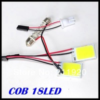 New !100Pcs COB Festoon T10 Dome Panel Light 18 chips Car Reading Interior Light 12V White