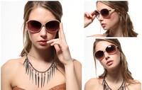 Promotion! 2014 Fashionable Vintage Ladies Sunglasses Baroque Round Women's Sunglasses G-17, Free shipping