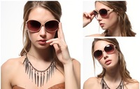 Promotion! 2014 Fashionable Vintage Ladies Sunglasses Baroque Round Women's Sunglasses G-17, Free shipping