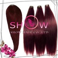 Stock !!! Unprocessed virgin peruvian/Brazilian hair lace closure with bundles,99J color 3pcs hair bundles with 1pc lace closure