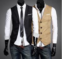 2013 abar Fashion men 's Vests Slim Vest Outwear casual Vest M/L/XL free shipping