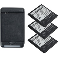 Free shipping 3 x 2800mAh battery+DOCK charger for Samsung Galaxy S4 s IV i9500 M919 I337 R970