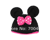 Minnie Mouse Knit Crochet Hat Photography Prop 0-24months Outfits Photo