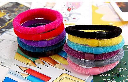 Candy color hair band Fashion High quality Cheapest Elastic Hair Bands wholesale hair band ! 10Pcs/Lot Free shipping(China (Mainland))