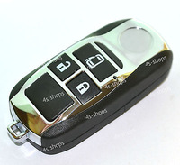 Replacement Modify Case 3 Buttons Flip Folding Remote Chrome Key Shell Fob For Toyota Camry