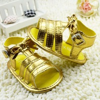 Shining gold baby girl shoes fashion new arrival design first walkers