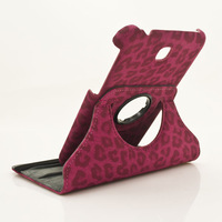 Tablet Cover Case for Samsung Galaxy Tab 3 7.0 T210 T211 PU Leather 360 Rotate Leopard,1PCS Free Postage