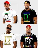 Distinct t-shirt/hip hop t shirts wholesale fashion hip hop shirts2013 name brand tee shirts free shipping cotton mens shirts
