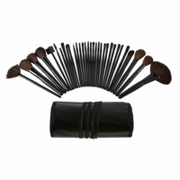 1set 32 Pcs Professional Makeup Eyebrow Shadow Cosmetic Brush Set Kit With Pouch Free Shipping
