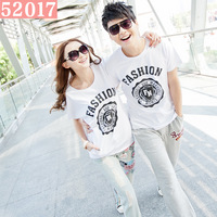 Lovers t-shirt short-sleeve personalized fashion men's clothing women t-shirt sports casual lovers