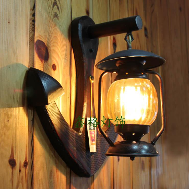 Personnalis vintage antique bois lumi res lampe lanterne for Lampes d interieur