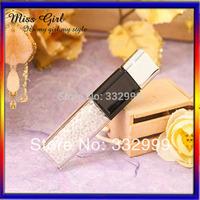 Free shipping New Pen drive Minions USB 2.0 Flash Drive 8GB diamond Memory stick U Disk Swarovski crystal element