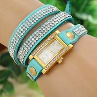 7 colors New Fashion Leather Strap Watches Rhinestone Leather Watch Women Dress Watch 1piece/lot BW-SB-532