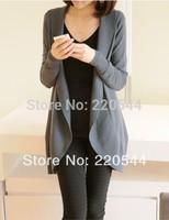 2014 slim irregular cape sweater female cardigan medium-long long-sleeve,free shipping!!!