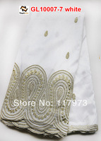 beautiful white george lace supplier of GL10007-7