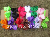 "Free Shipping 12 colors wholesale boutique 5"" hair bows headbands ,10pcs/lot"