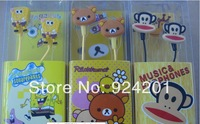 100pcs/lot,High Quality Cartoon Despicable Me 2 Minions Cute Earphone 3.5mm In-Ear Cool headphone for Gift with Case Retail Box