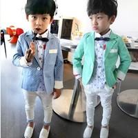 Polka dot suit child boys blazer outerwear set twinset a8522 1.45