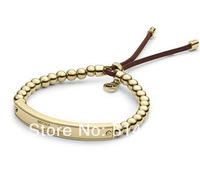 2014 New. Fashion Brand Letter Bar Bead stretch bracelet 3 colors available