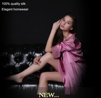 2014 New twinset house dress suspender dress and night-robe, quality noble silk nightgown,  comfortable fashion elegant robe