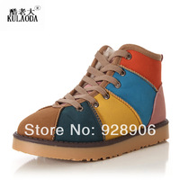 Winter snow boots colorful women's slip-resistant waterproof boots short warm boots shoes casual shoes cotton shoes
