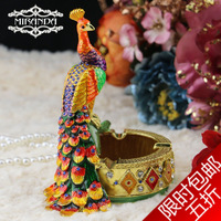 New 2014 Birthday gift fashion vintage peacock ashtray dining table dresser decoration  Free shopping