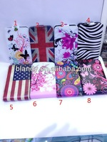 50pcs/lot free shipping Newest UK USA flag flower flip PU leather case for LG E430