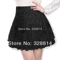 8862 2014 bust female summer short puff layered gauze skirt