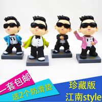 Car decoration shaking his head bird car doll auto decoration car upholstery supplies exhaust pipe 1set=4pieces