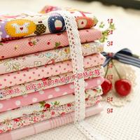 42*50pcs 9 pcs Soft pink Polka dot cartoon Cotton Fabric Fat Quarter Bundle Quilting Patchwork Tilda Fabric Sewing