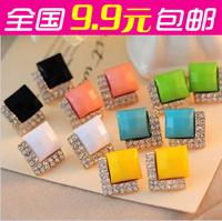Accessories fashion black gem fashion luxury Crystal stud earring,Fashion Jewelry