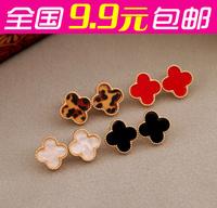Fashion accessories love clover love oil stud earring female
