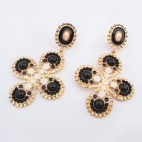 Cheap Jewelry Wholesale Hot New Fashion Charm Vintage Resin Drop Earring Geometric Earrings For Women 2014 Free Shipping#104412