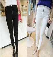 2014 spring zipper decoration elastic pencil legging