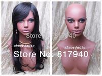 NEWIIHigh quality Fiberglass Realistic female mannequin dummy head bust for wigs & hat & sunglass & jewelry&mask display