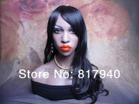 High quality Fiberglass Realistic female mannequin dummy head bust for wigs & hat & sunglass & jewelry&mask display