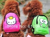 Free shipping hello kitty frog Dog  pet backpack  snack bag dog bags dog school bag 2 colors
