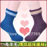 Unisex winter super thermal woolen socks(20pairs/lot) ultra-thick rabbit fur sock calcetine
