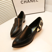 2014 spring and autumn fashion high-heeled shoes pointed toe metal decoration cool single shoes casual women's shoes size 35-39