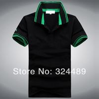 Summer, the new men's short sleeve T-shirt lapel pure color