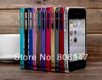 Free shipping ultra thin 0.7mm mobile phone case metal bumper for iphone 4 4s