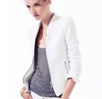 2014 Autumn New fashion Womens' Blazer Suits Jackets Zipper porkets Brand cozy elegant slim outwear OL casual coat Vogue