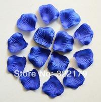 1000pcs Royal Blue Silk Rose Petals Wedding Party Decor Wedding Confetti Favor Free Shipping Dark Blue Rose Petals