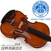 Christina tiger violin antique solid wood v04 dull natural ebons handmade adult child  Antique matte ebony wood natural