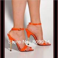 The new high-heeled sandals fish head European and American high-heeled sandals nightclub 11 cm [68]