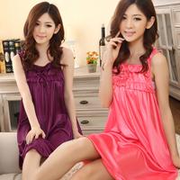 New Arrival 2014 Sexy Brace Womens Sleepshirts Silk Lace Sleepwear Pajamas Nightgowns Robes Women Sleepwear Free/Dropshipping