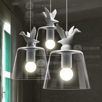 Yc fashion vintage rustic led pendant light