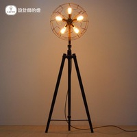 Loft rh american brief personalized industrial fan floor lamp