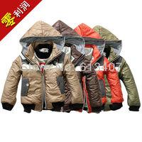 Autumn & Winter Boys Jackets 2013 Fashion Kids Coat Size 100-130 Children Hooded Warm Clothing Free Shipping